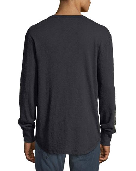 Distorted Logo Long-Sleeve T-Shirt