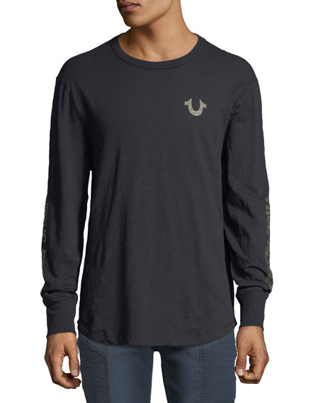 True Religion Distorted Logo Long-Sleeve T-Shirt