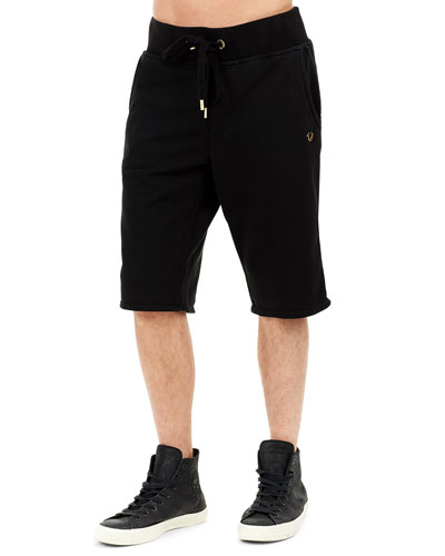 Solid Cotton Sweat Shorts