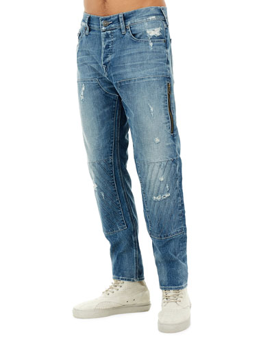 Workwear Distressed-Denim Pants