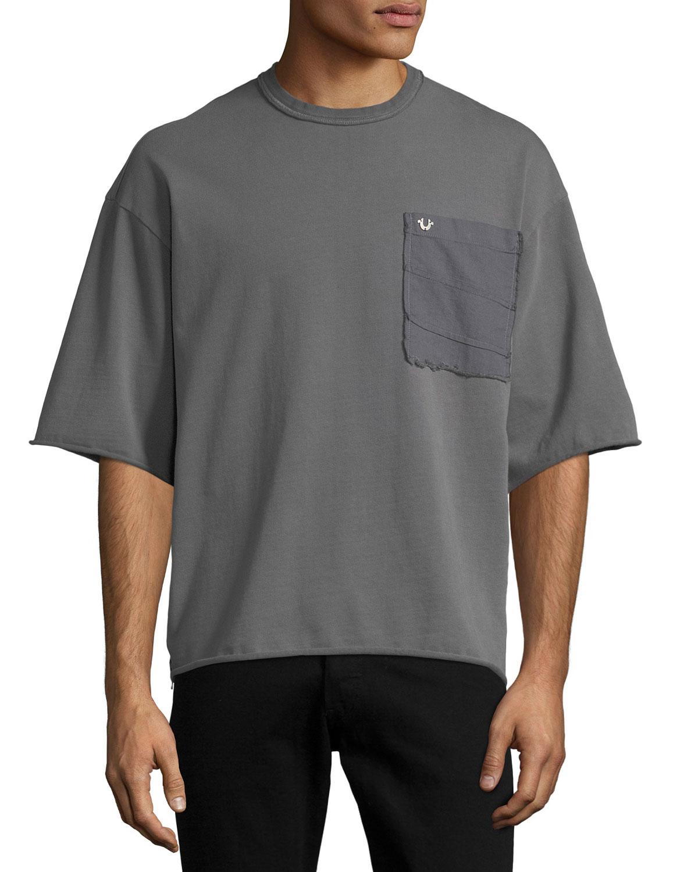 72866de1471 True Religion Oversized Pocket T-Shirt