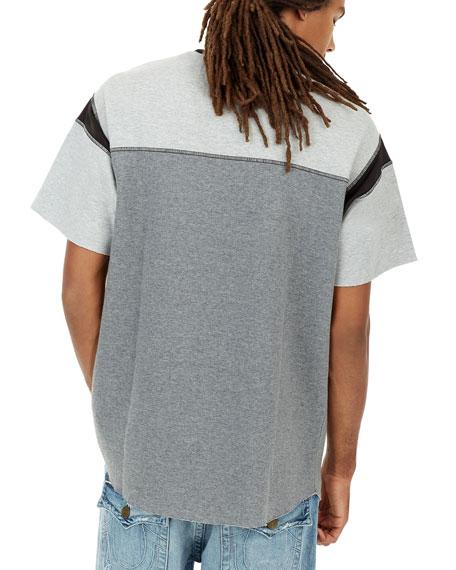 Heathered Colorblock Football T-Shirt