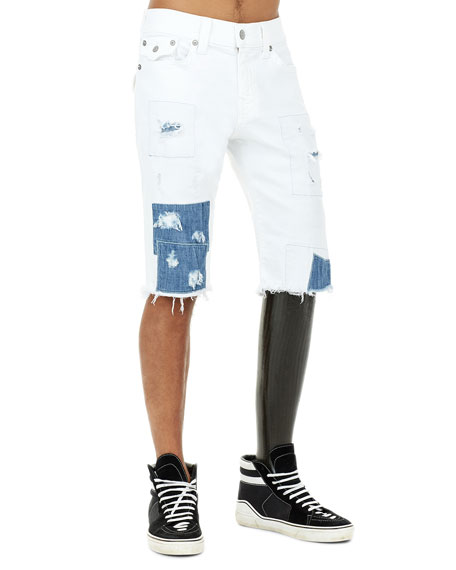 Ricky Flap-Pocket Distressed Cutoff Shorts