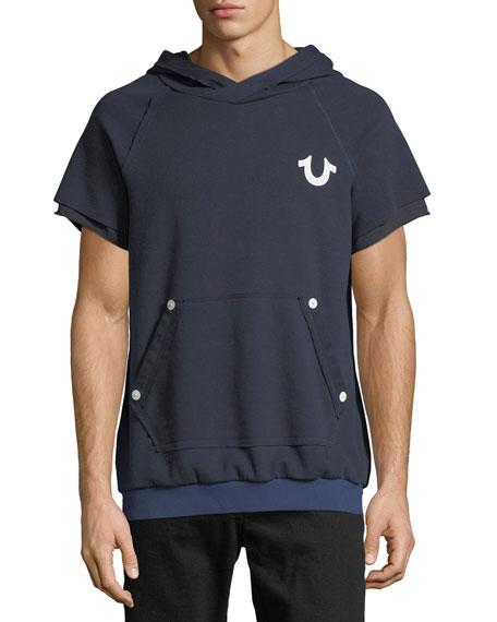 True Religion Short-Sleeve Pullover Hoodie
