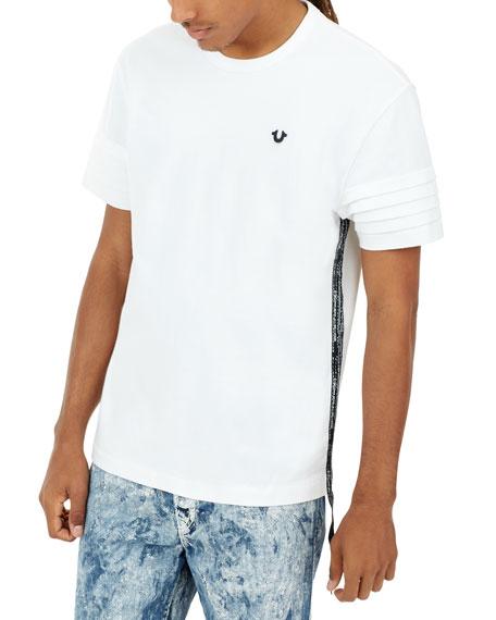 Side Striped Moto T-Shirt