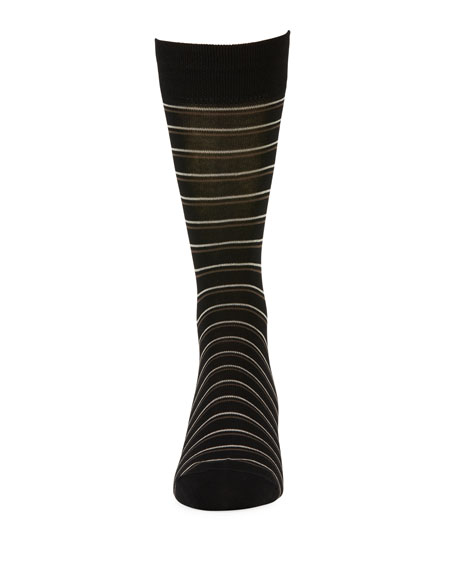 Double Striped Cotton-Blend Socks