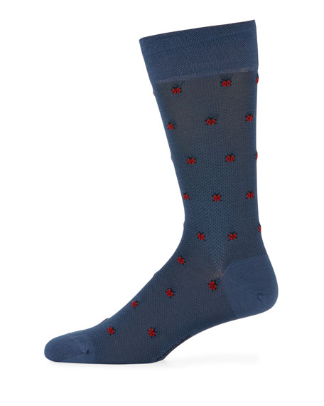 Ladybugs Cotton-Blend Socks