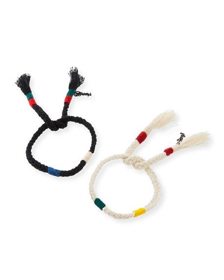 Set of Self-Tie Braided Bracelets