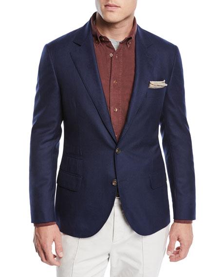 Men's Cashmere Two-Button Jacket