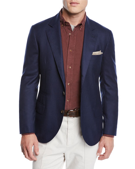 Men's Cashmere Two-Button Jacket