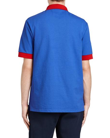 Colorblock Crest Polo Shirt