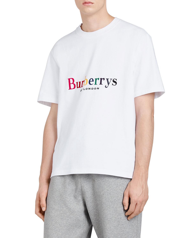 e2c3ca93a4c3 Burberry Rainbow Graphic T-Shirt | Neiman Marcus