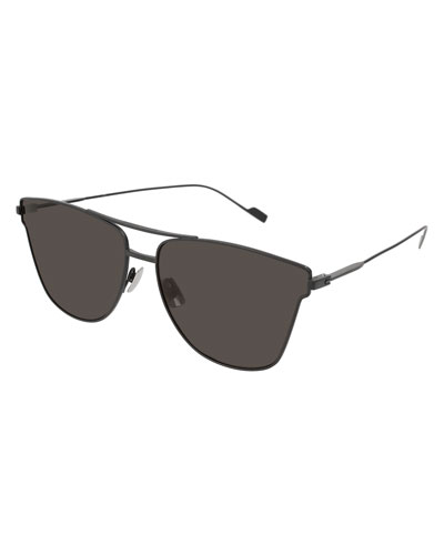SL 51 Geometric Metal Aviator Sunglasses