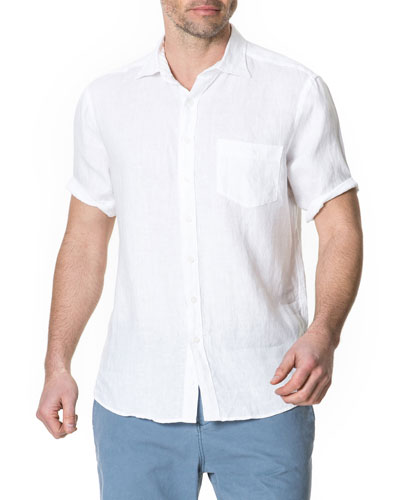 Men's Abbotleight Linen Short-Sleeve Sport Shirt