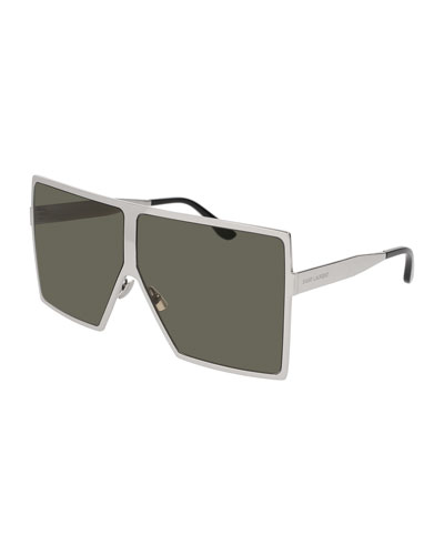 SL 182 Betty Unisex Metal Shield Sunglasses