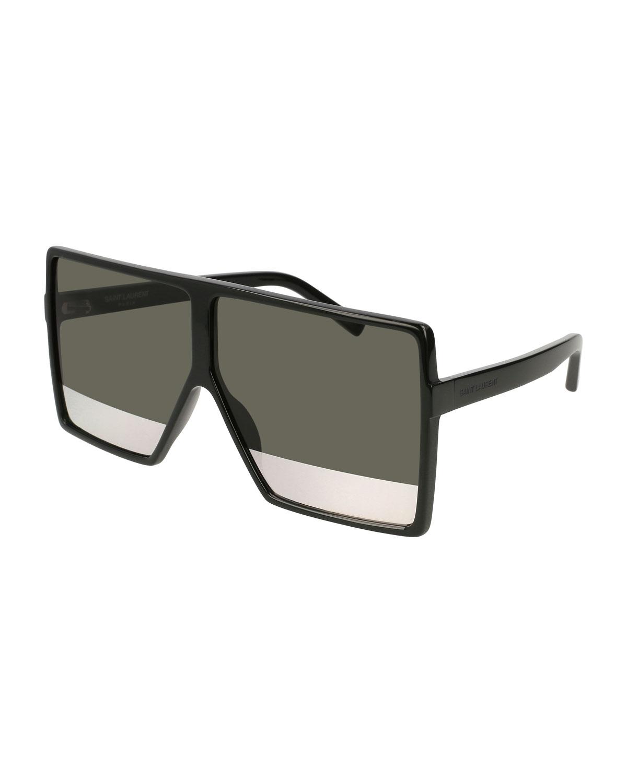 71dbf8d898 Saint Laurent SL 183 Betty Acetate Shield Sunglasses