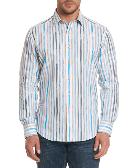 Murals Striped Sport Shirt
