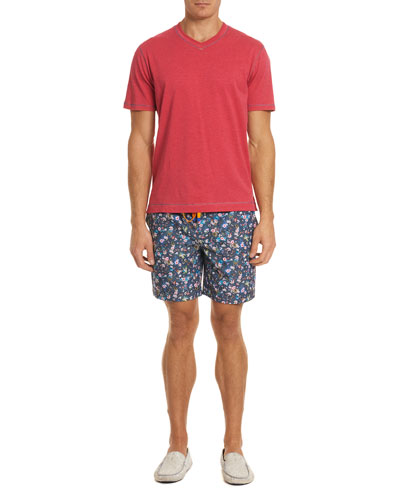 Gali Floral-Print Swim Trunks