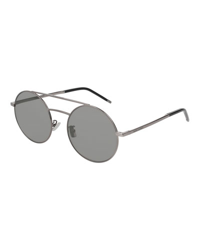Round Unisex Metal Aviator Sunglasses