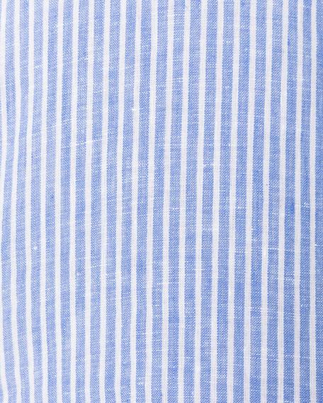 Men's Derby Striped Linen Sport Shirt