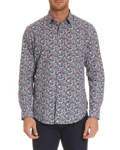 Varela Floral-Print Sport Shirt