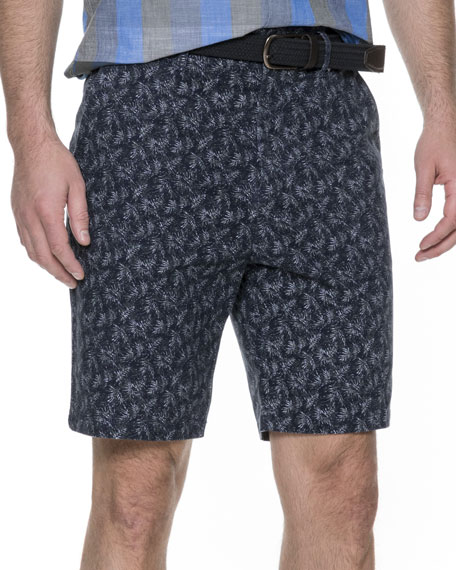 Dusky Forest Cotton Twill Shorts