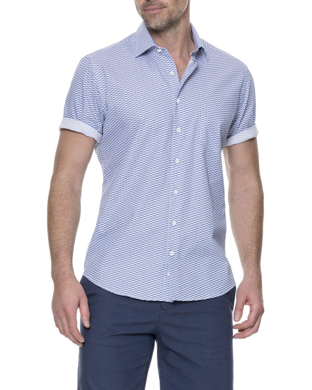 Rodd   GunnProsford Sports-Fit Fishes-Print Short-Sleeve Sport Shirt 1d674869e6b