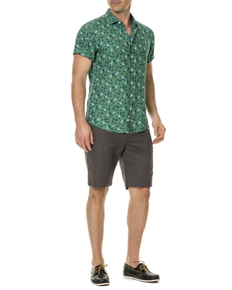 Canoe Creek Floral-Print Short-Sleeve Sport Shirt
