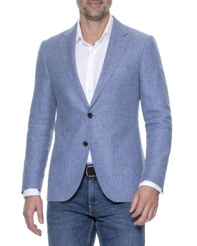 Enfield Textured Linen Jacket