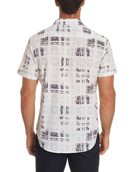 Vega Mosaic Tiled Short-Sleeve Sport Shirt