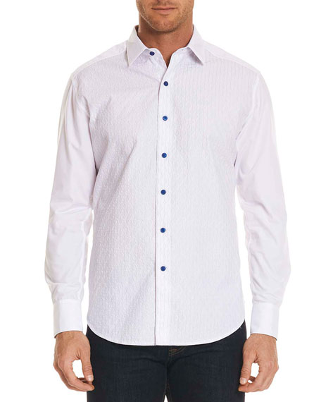 Robert Graham Dominic Contrast-Button Sport Shirt