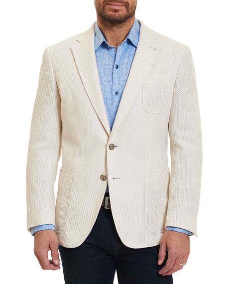 Robert Graham Lauros Loose-Weave Two-Button Jacket