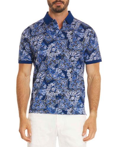 Mauri Paisley-Print Polo Shirt