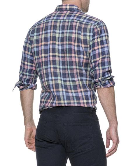 Men's Stirling Plaid Linen Shirt