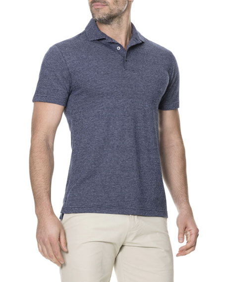 Men's Cuvier Island Striped Polo Shirt