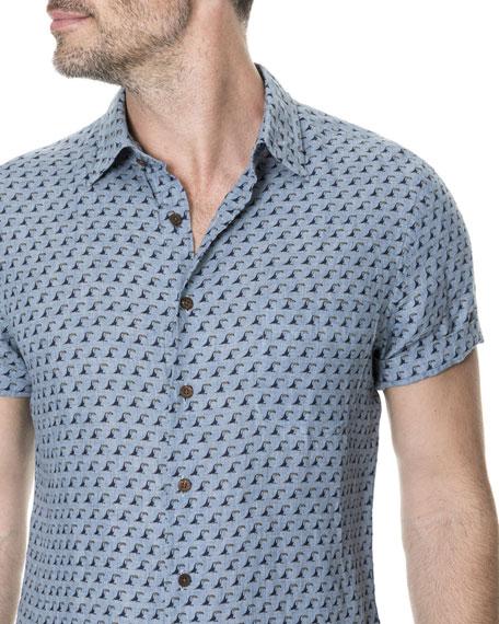 Men's York Bay Short-Sleeve Linen Sport Shirt