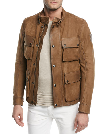 Belstaff Brad 4.0 Leather Field Jacket