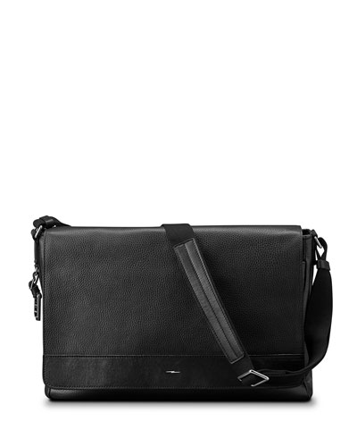 Canfield Luxe Grain Napa Leather Messenger Bag