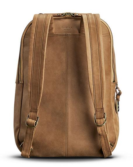 Men's Runwell Leather Backpack, Light Brown