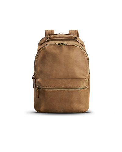 Men's Runwell Leather Backpack, Light Brown
