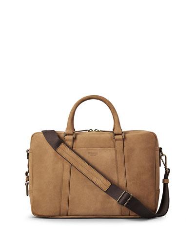 Men's Outrigger Slim Leather Laptop Briefcase