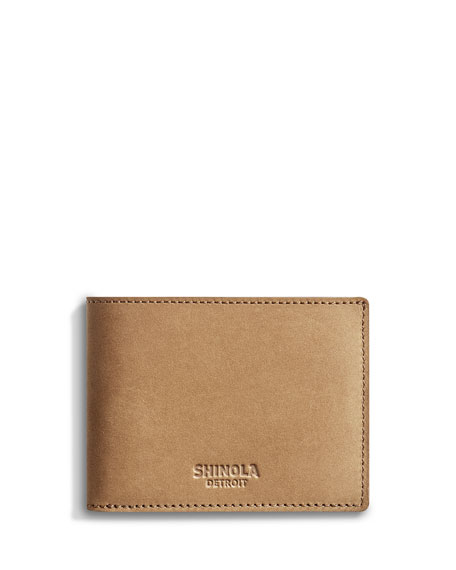 Shinola Men's Outrigger Slim Leather Bi-Fold Wallet