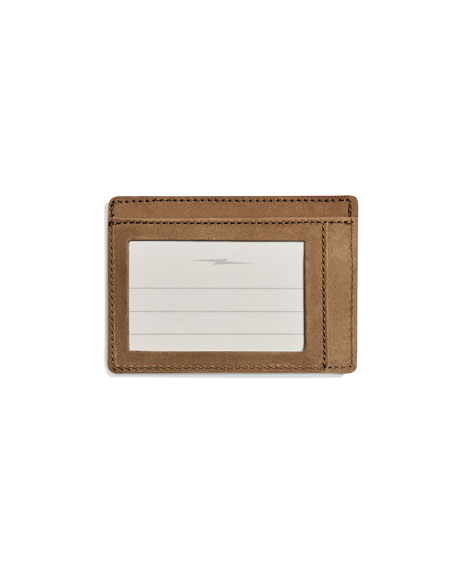 Men's Outrigger Leather ID Card Case
