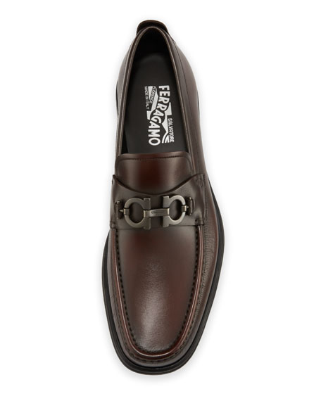 Men's David Leather Lug-Sole Loafer