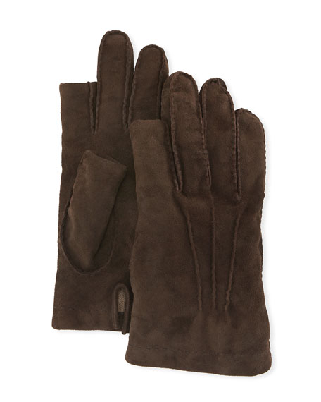 Three-Finger Suede Gloves