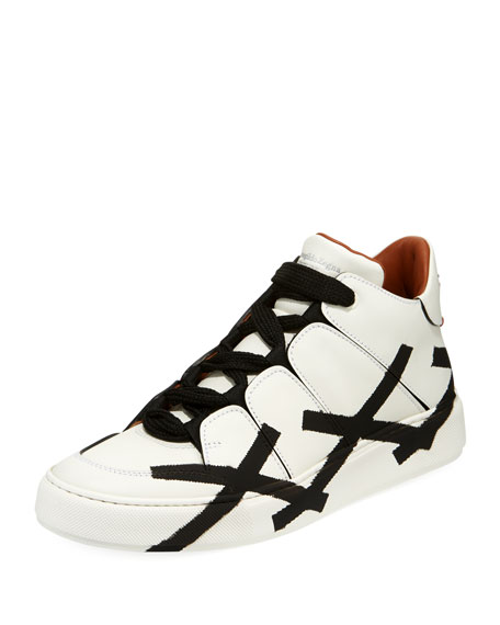 Ermenegildo Zegna Tiziano Men's High-Top Leather Sneaker