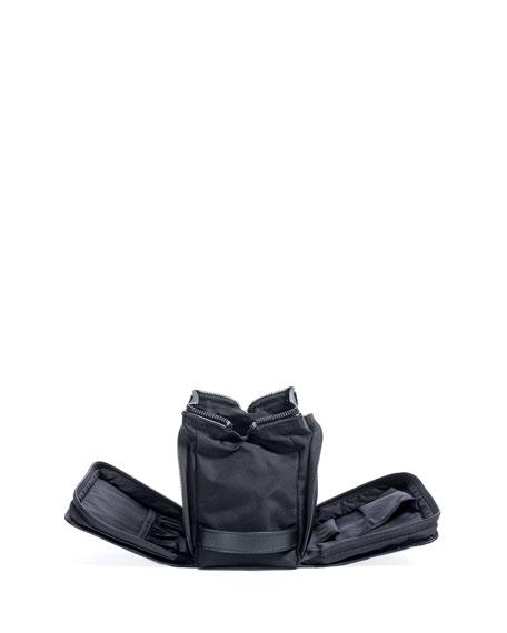 Melange Leather-Trim Toiletry Bag