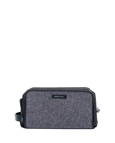 Mélange Leather-Trim Toiletry Bag