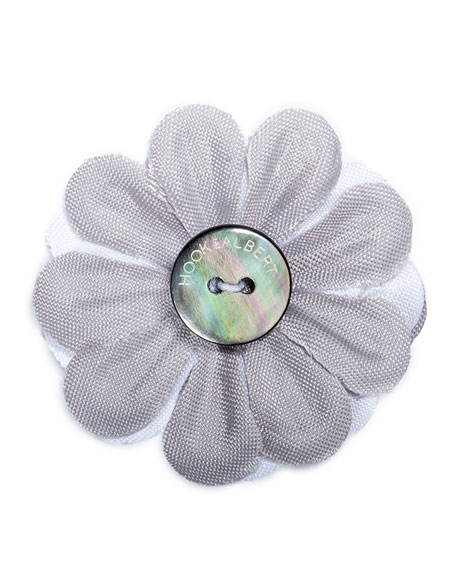 Large Two-Tone Whittier Lapel Flower