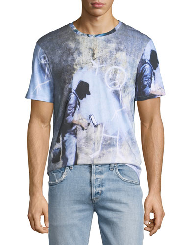 Men's Ghost Graffiti T-Shirt